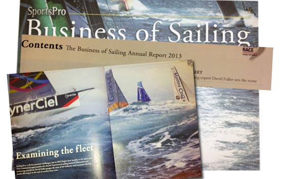 Editorial for Sports Pro Business of sailing Magazine