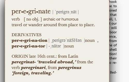 Peregrinate